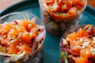 Recette Pokebowl au saumon & choux