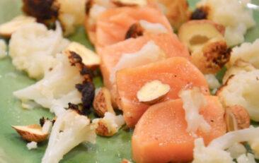 recette-saumon-fume-a-lancienne-chou-fleur-grille-noisettes