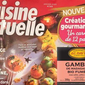Cuisine Actuelle craque sur les Gambas fumées JC David